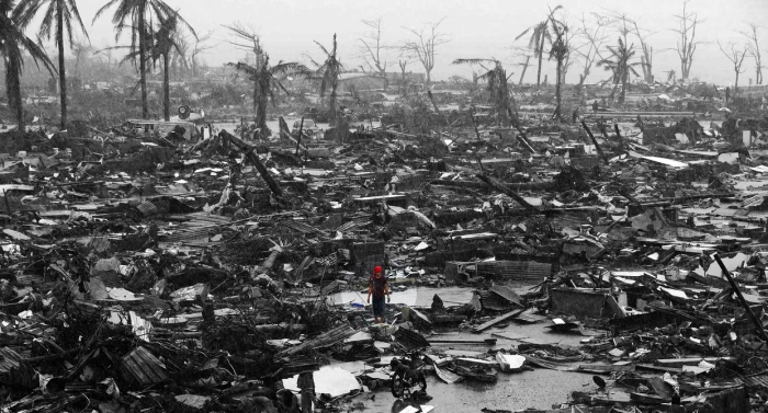 Typhoon Haiyan destruction